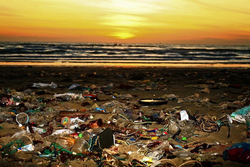 Beach, Trash, Pollution, Plastic, Environment, Garbage