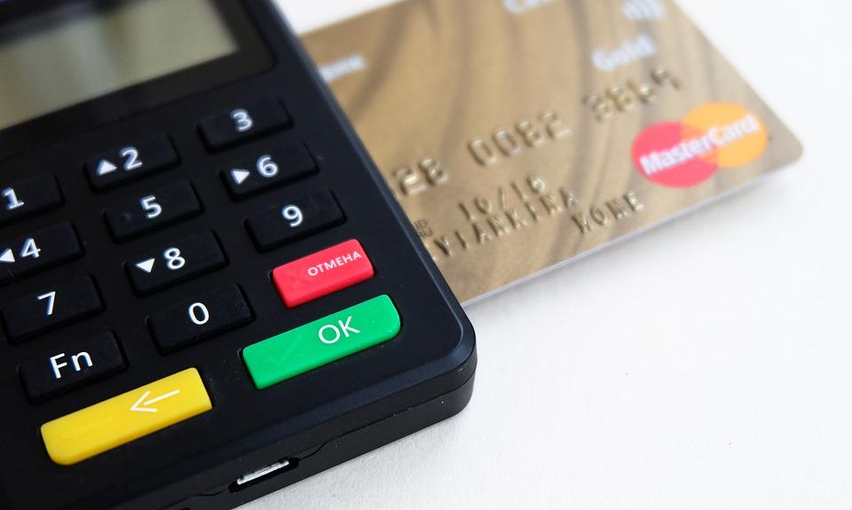 銀行, 事業, ボタン, カード, キャッシュレス, 商業, 信用, デビット, デバイス, 電, 設備