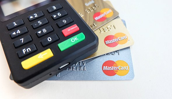 銀行, 事業, ボタン, カード, キャッシュレス, 商業, 信用, デビット