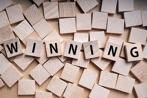 Buchstaben, Gewinnen, Gewinn, Sieg