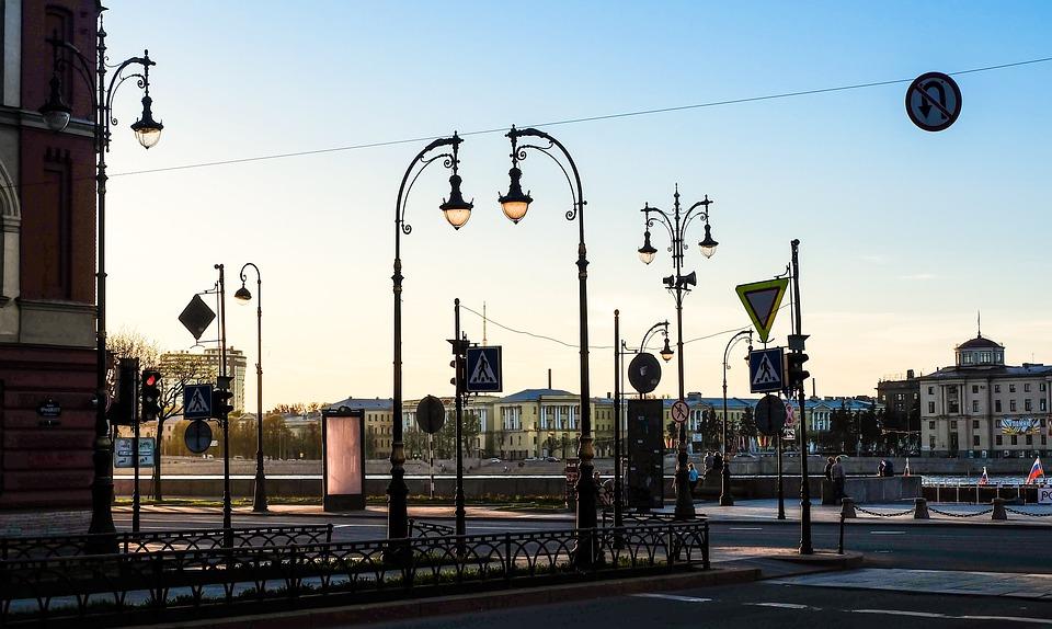 Улица, Фонари, Исторический, Турист, Санкт-Петербург