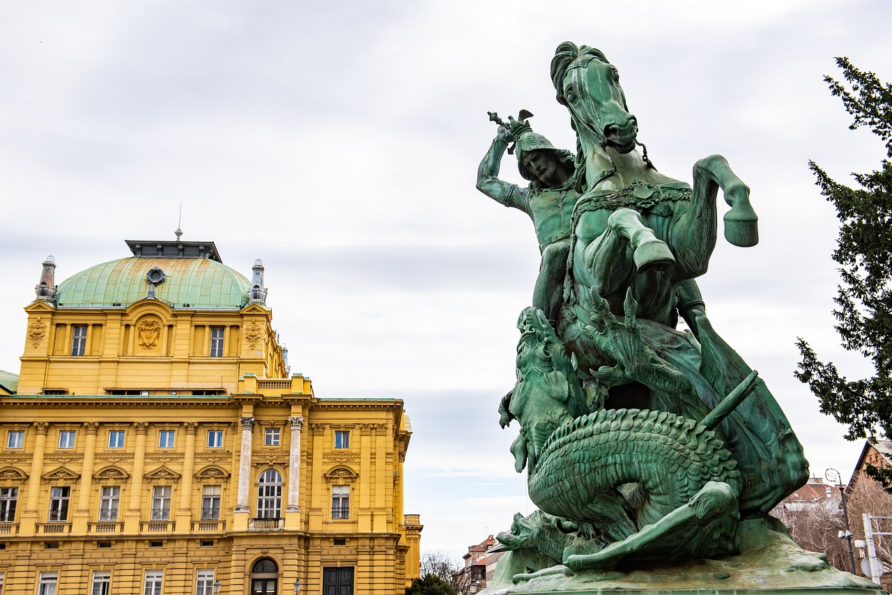 Hnk Zagreb Statue Free Photo On Pixabay