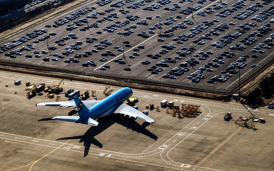 Airport, Vliegtuigen, Autos, Parkeren, Vervoer, Reizen