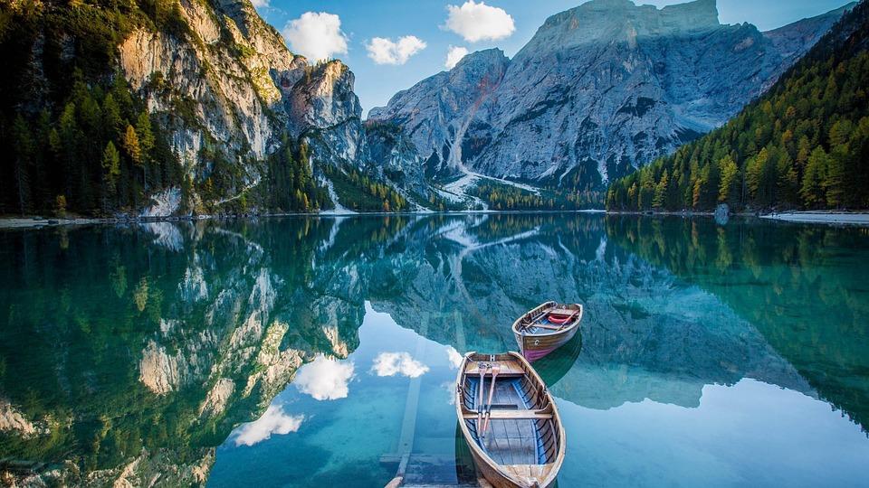 Barcă, Lac, Natura, De Apă, Munte, Peisaj, Laguna