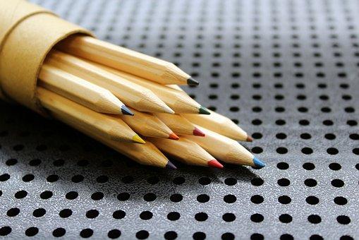 クレヨン, 描画するには, 図面, 創造的, 色, 芸術, 木造, 教育, 学校