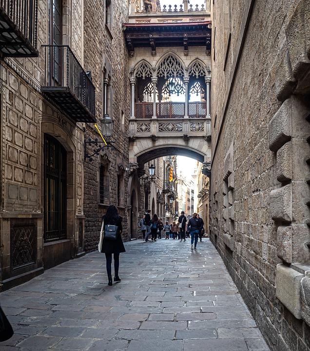 Barcelona, Barrio Gótico, Arquitectura, Gótico, Ciudad