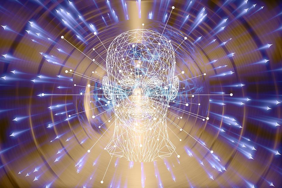 Virtual, Realidad, Psique, Máscara, Rejilla De Alambre