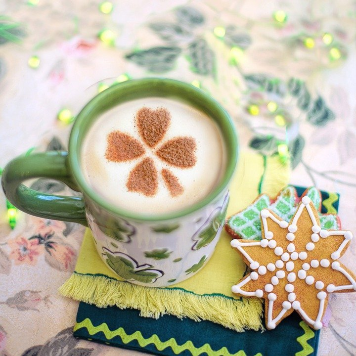 St, Paddy'S Day, Patrick'S Day, Coffee, Shamrock Design