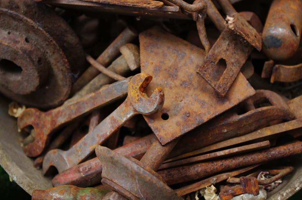 Rusty Tools, Rusted Metal, Background, Texture