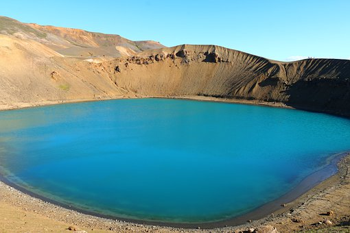 Iceland, Volcano, Crater, Went Out, Lake