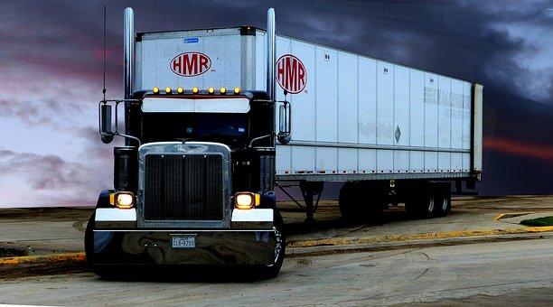 Transporte, Camión, Tractor, Remolque, Tractor Remolque