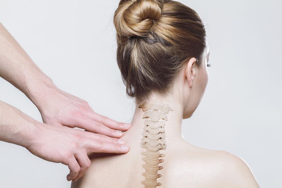 戻る, 首, 脊椎, 医療, 体, マッサージ