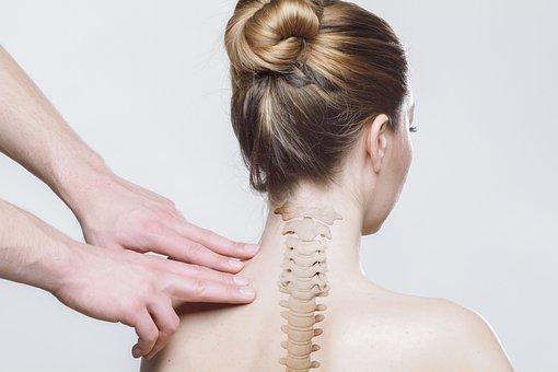 Zurück, Hals, Wirbelsäule, Medizinische