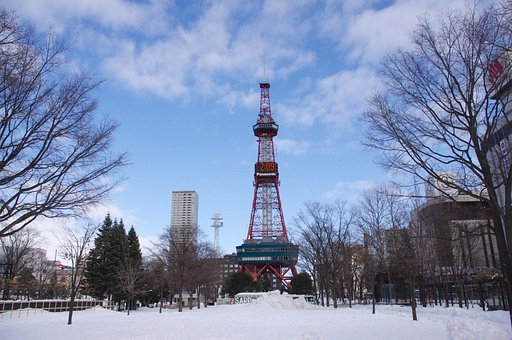 日本, 北海道, 札幌市, アジア, 観光, 旅行, 市, タワー, 都市の景観