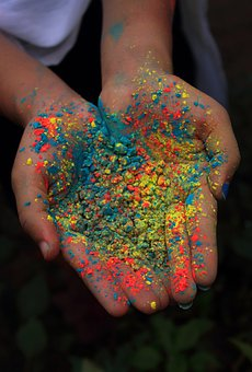 Holi, Colors, Festival, Color In Hand