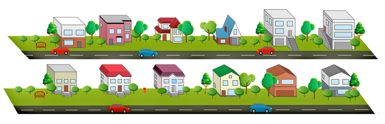 Houses Clipart Road Trees House Free Image On Pixabay