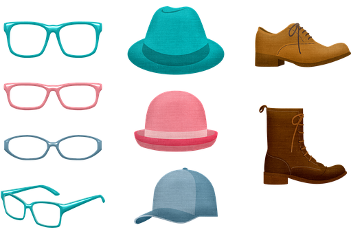 Accessories, Hats, Shoes, Glasses