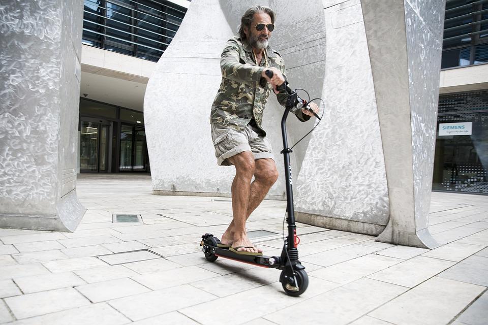 E-Scooter, Munich, Urbaines, Le Trafic, Ville, Bâtiment