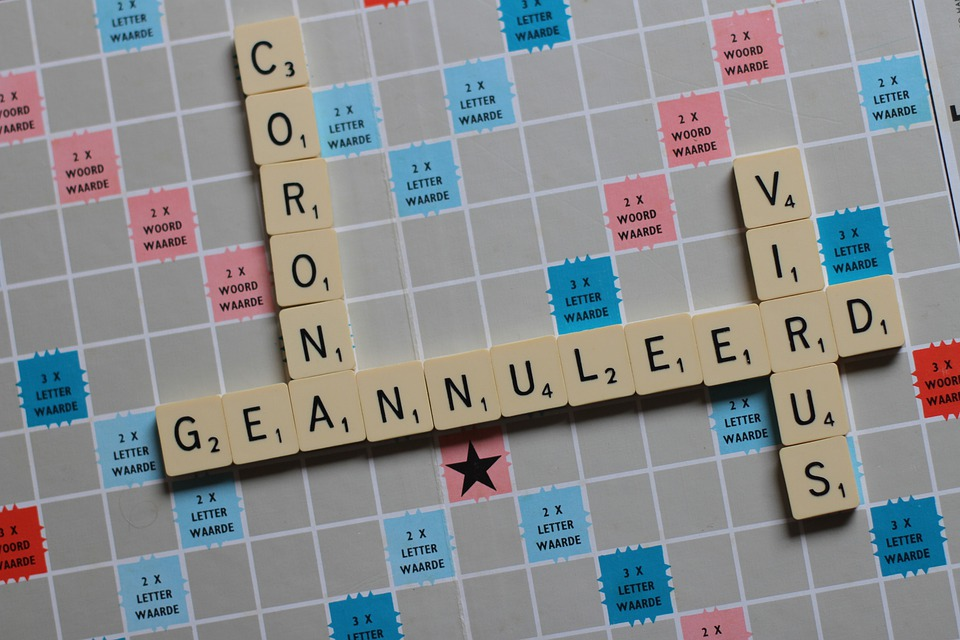 Feline Corona Virus, Cancelled, Scrabble, Letters, Game
