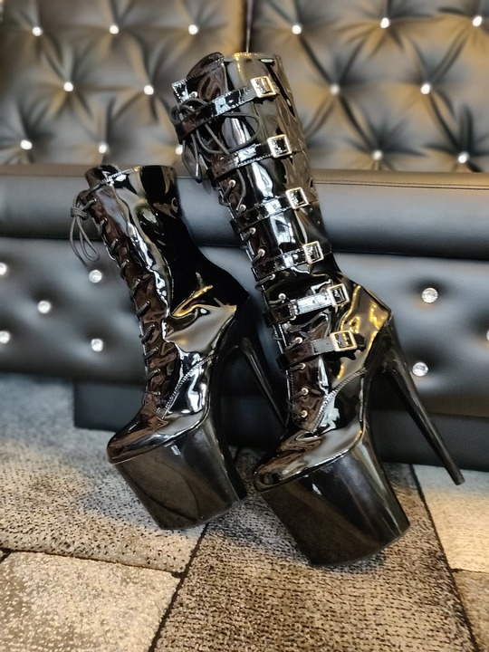 Shoes, Fashion, Style, Fetish, Boots, Twins, Pvc, Black