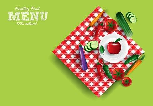 ヘルシーメニュー, 有機食品, 健康食品, 有機, メニュー, キッチン