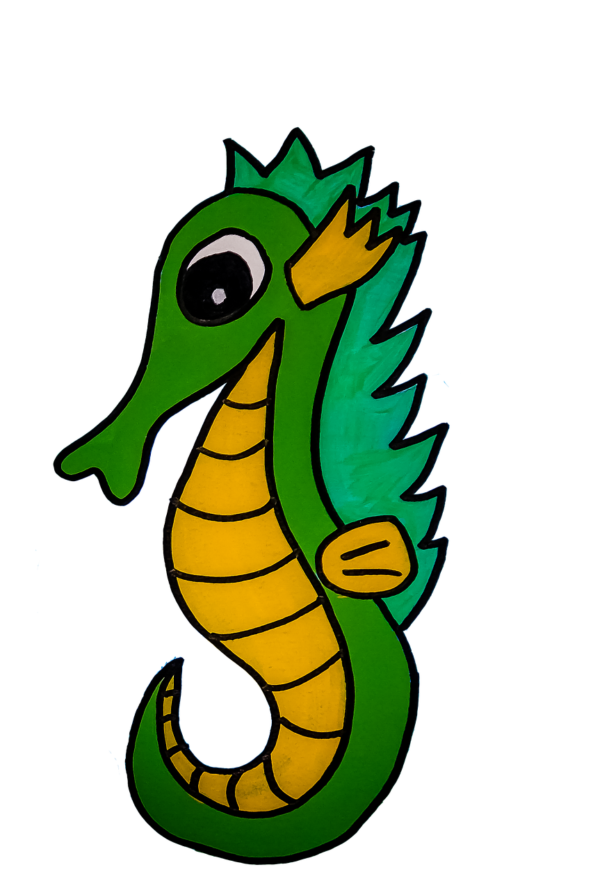 Seahorse Drawing Sea Free Image On Pixabay