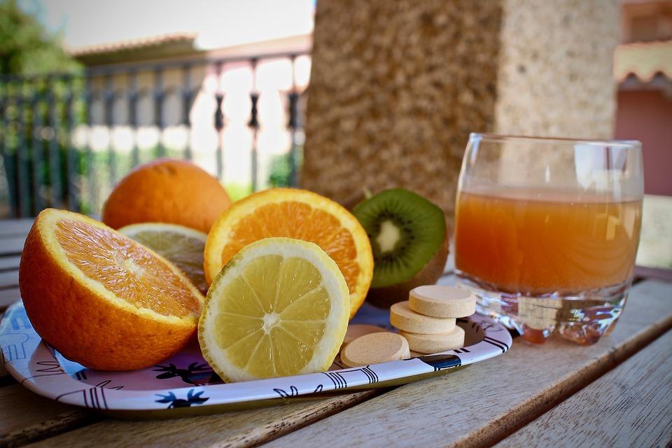 Les Vitamines, Agrumes, Citrons, Kiwi, Oranges