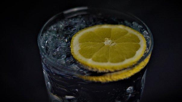 水, 柠檬, 喝, 健康, 预防, 病毒, Covid-19, 冠状病毒