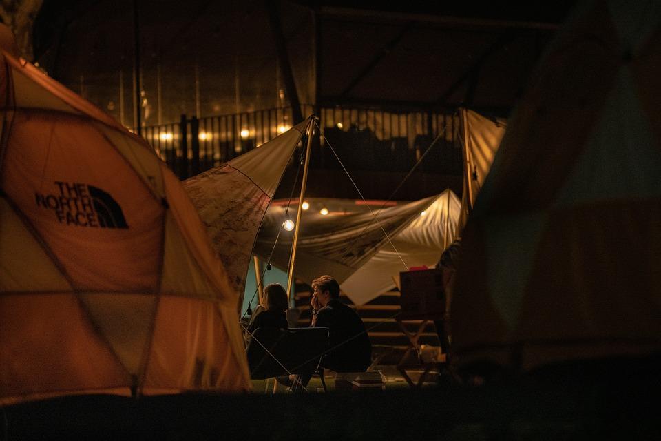 キャンプ, テント, 友人, 泊, アドベンチャー, キャンプファイヤー, 自然, 旅行, 風景, 屋外, 夏
