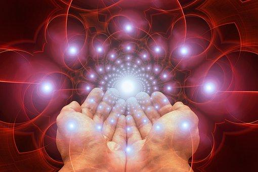 手, 受信, 光, 感謝の意, 神, 信仰, 宗教, 超自然的です, 悟り