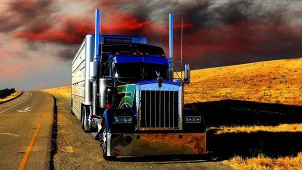 Transporte, Camión, Capa Del Sol