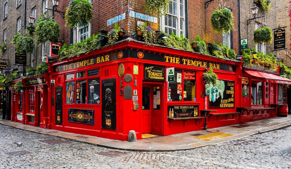 Ирландия, Дъблин, Temple Bar, Кръчма, Бира, Ейл
