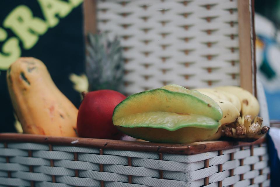 Frutas, Piquinique, Cesta, Campo, Natureza, Cultura