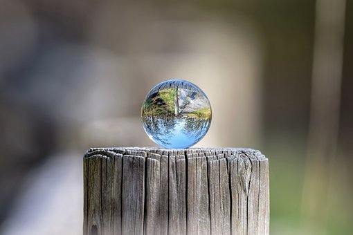 自然, 景观, 天空, 公园, 路, 木材, 绿色, 玻璃, 球, 玻璃珠