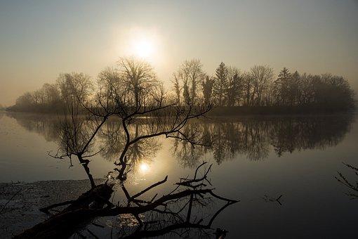 River, Rest, Mood, Water, Sun, Haze