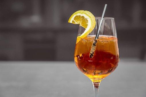 食前酒, アルコール, ブランデー, ガラス, カクテル, バー, 霊, 飲む