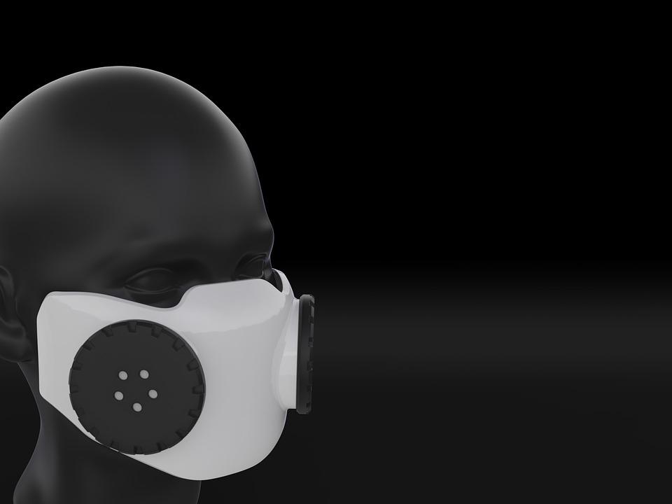 mask protection virus black