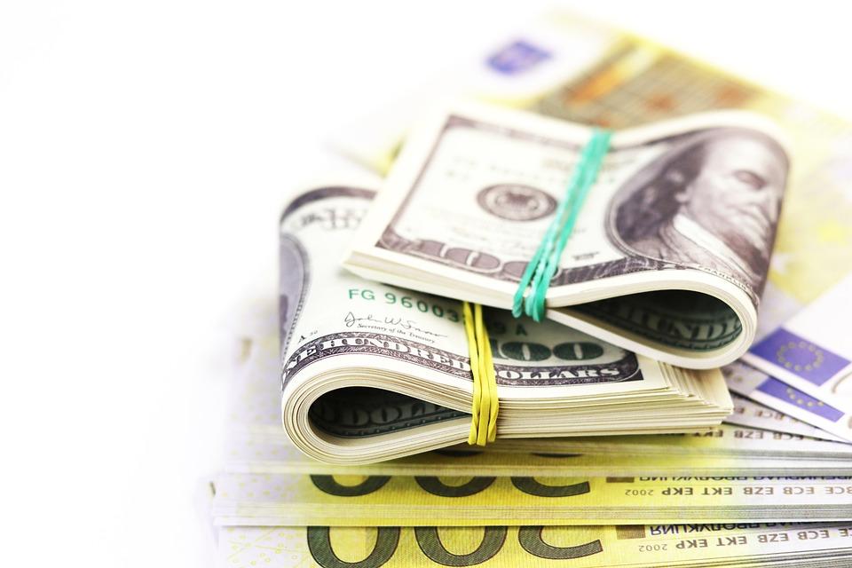 銀行, 紙幣, バッチ, 明細書, 手形, 仕事, 現金, 商業, クレジット, 通貨, ドル, 経済, 両替