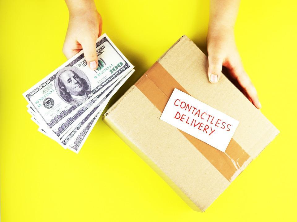 ボックス、ビジネス、カード、段ボール、宅配便、クレジット