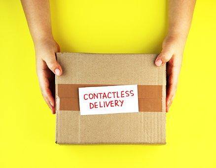 ボックス, ビジネス, カード, 段ボール, 宅配便, クレジット, 顧客