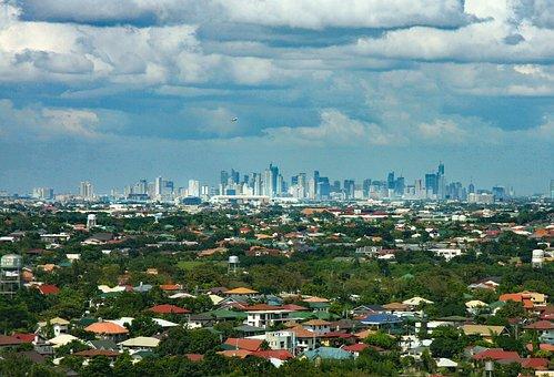 Philippines, Manila, Skyline, Sky