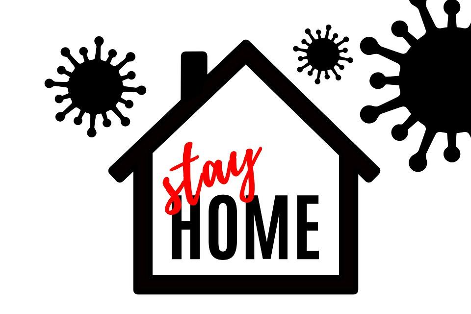 家, コロナ, Coronavirus, ウイルス, Covid-19, 門限なし, スタンプ, いの距離