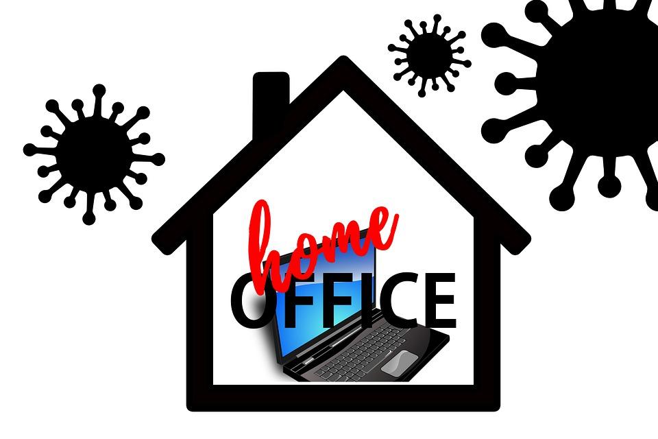 Casa, Home Office, Escritório Em Casa, Corona