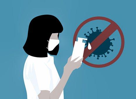 Coronavirus, Virus, Sanitizer, Wash,Bacterial infections