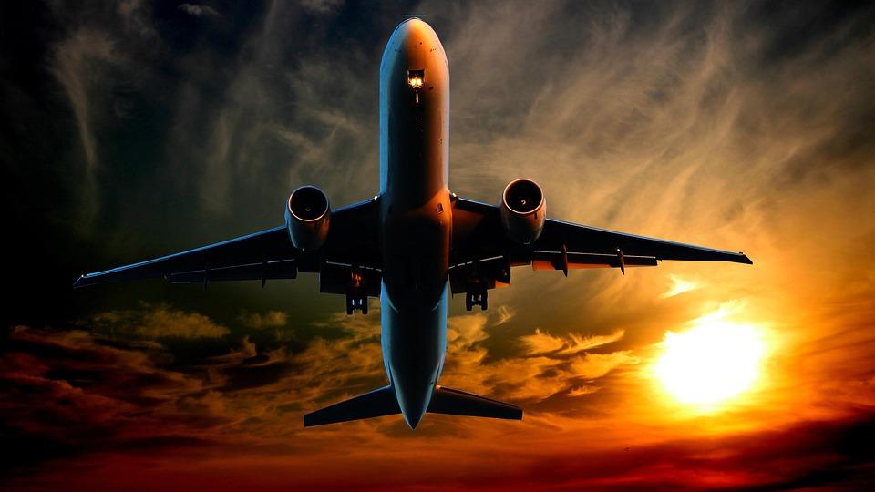 サンセット, トランスポート, 航空機, フライト, 太陽, 旅行, 空, ミステリー, 雲, 物流, 天候