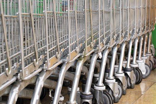 Shopping, Trolly, Supermarket, Trolley