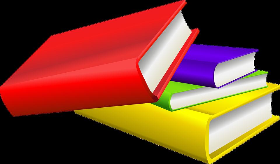 Bild med böcker