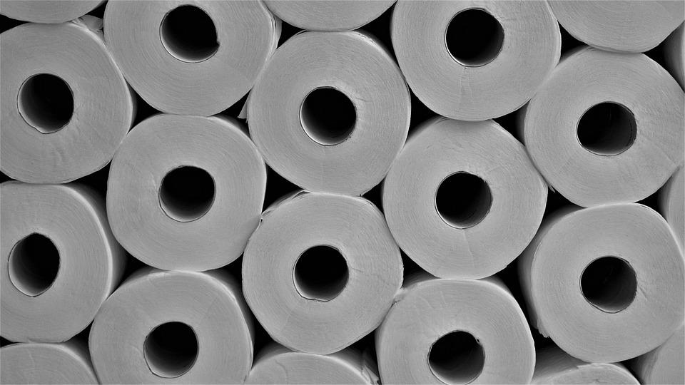 Toilettenpapier, Hintergrund, Klopapierrollen