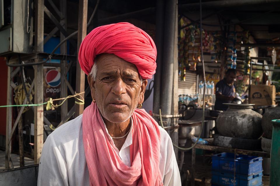 Hombre, Indio, India, Asia, Retrato, Hindú, Hinduismo