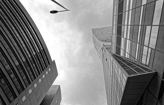 Edifícios, Alta, Moderno, Office